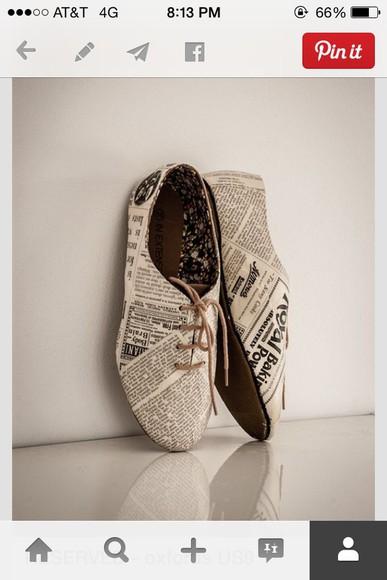 vintage newspaper black and white vintage shoes for her