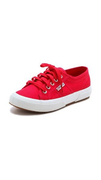 classic sneakers lace red shoes