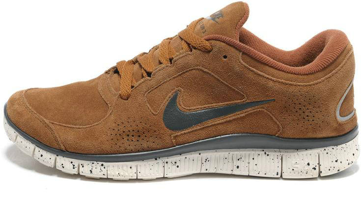 Womens Nike Free Run 3 Leather Sandy Brown Grey Shoes - $65.66 : Cheap Nike Free Shoes, Cheap Nike Free Shoes