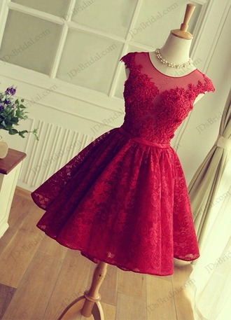 dress red red dress lace dress short dress