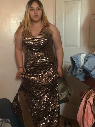 dress glitter black gold long long dress