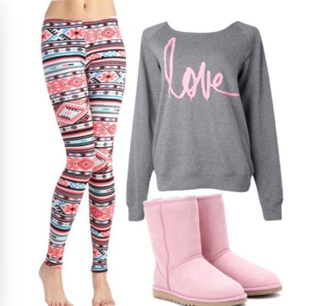 sweater shorts shoes leggings