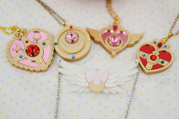 jewels necklace sailor moon anime