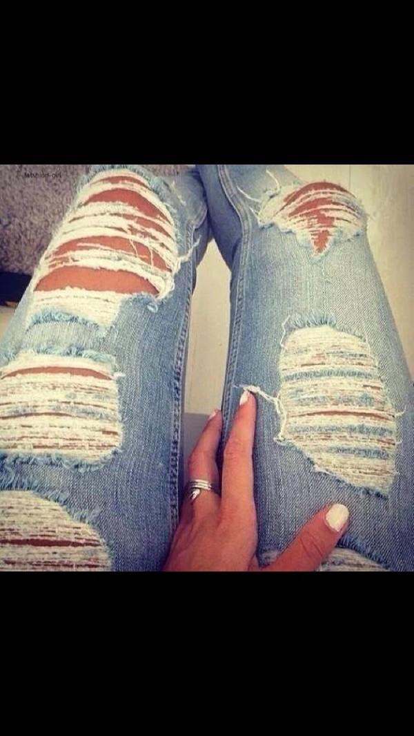 jeans used look used jeans blue amazing kim kardashian