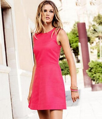dress pink blonde girl