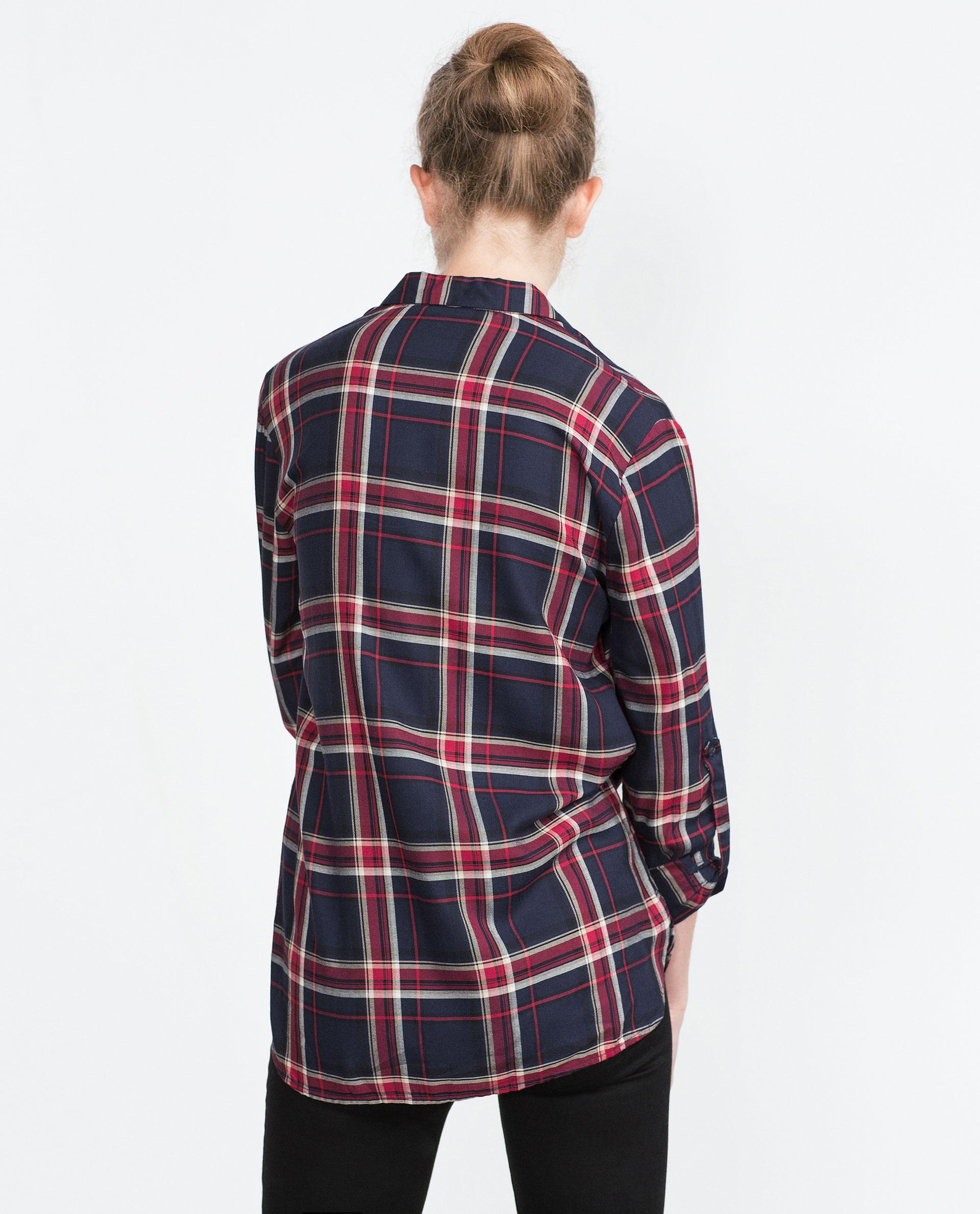 Camisa MujerZara Camisas Camisa España Cuadros n0w8OkP