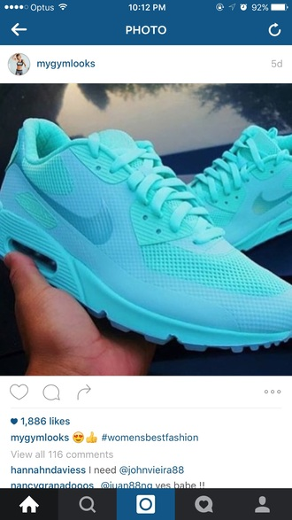shoes nike blue light blue mint sneakers instagram