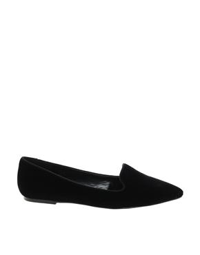 Mango | Mango Velvet Pointed Slipper Shoes at ASOS