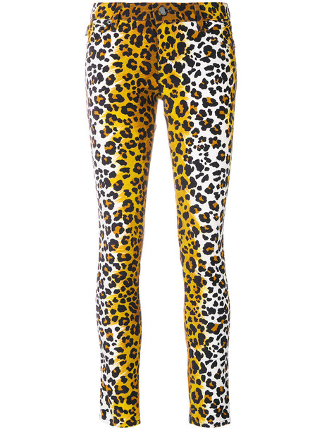 LOVE MOSCHINO jeans skinny jeans women spandex cotton print brown leopard print