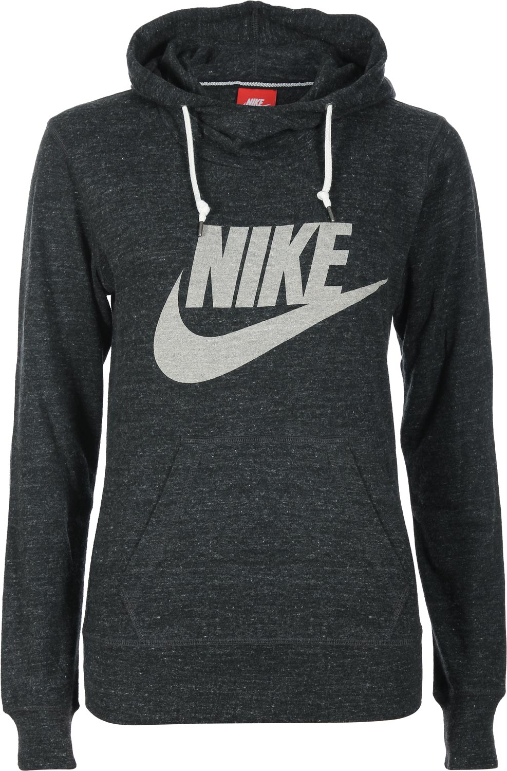nike gym vintage w hoodie black heather. Black Bedroom Furniture Sets. Home Design Ideas