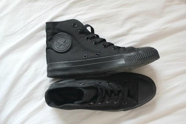 shoes converse black converse