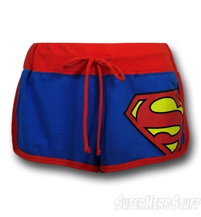 Superman juniors short shorts