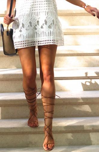 shoes crochet dress gladiators flat gladiator sandals