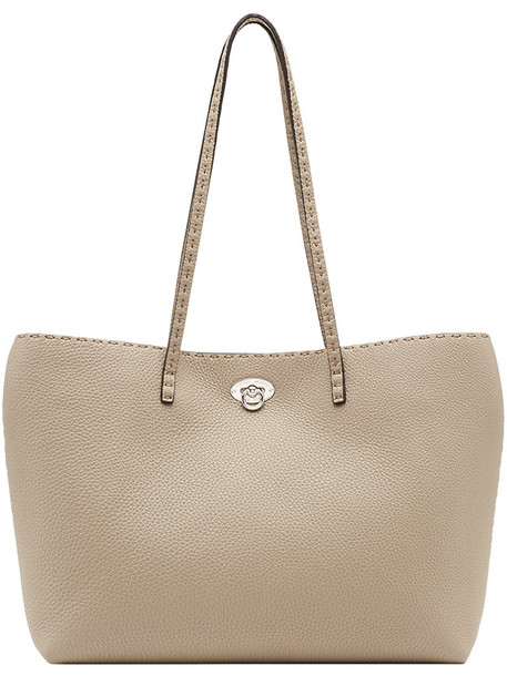 women bag silver leather nude