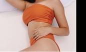 swimwear,@orange