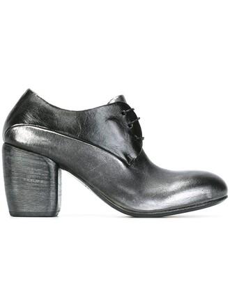 heel chunky heel women booties leather grey shoes