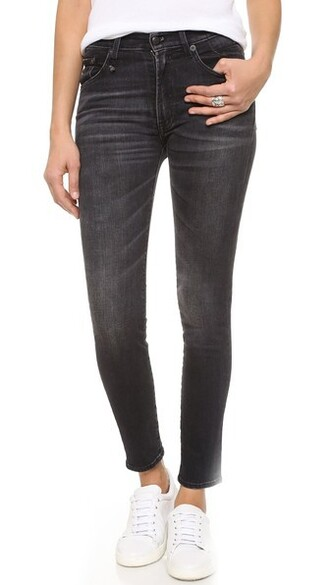 jeans skinny jeans high black