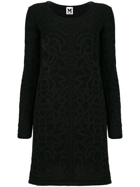 M Missoni dress midi dress women midi cotton black wool pattern