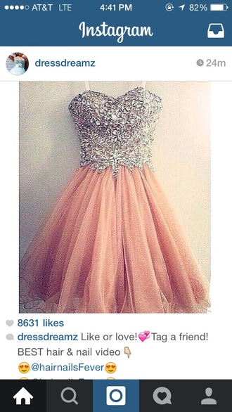 dress pinky homecoming dress dream dress so pretty pink dress sparkle