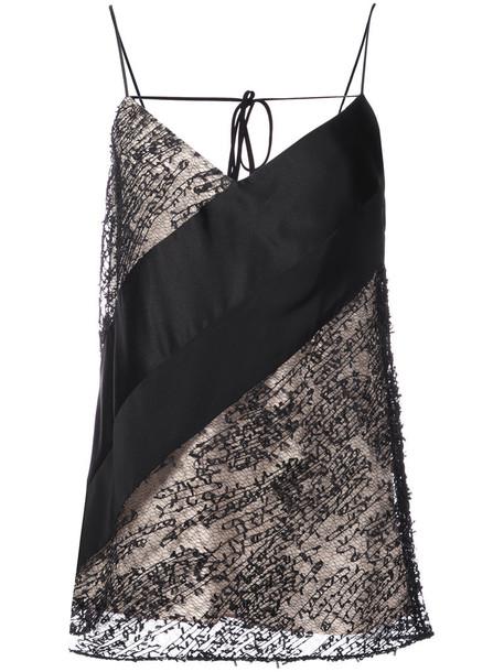 Prabal Gurung - asymmetric vest - women - Polyester/Silk - 2, Black, Polyester/Silk