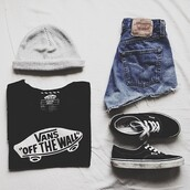 sweater,vans,black,dope,shorts,blouse,shirt,t-shirt,hat,shoes,summer,hype,look,hipster,girl,casual,beanie,denim vintage levis,High waisted shorts,high waisted jeans,vintage,white,writing,shedow,vans t-shirt,short,black t-shirt,vans of the wall,jeans,high waisted denim shorts,grey beanie,black white vans,skater girl,cute outfits,summer swag,denim shorts beanie vans tshirt,cut offs,swag,indie,top,blue shorts,nivana,off the wall