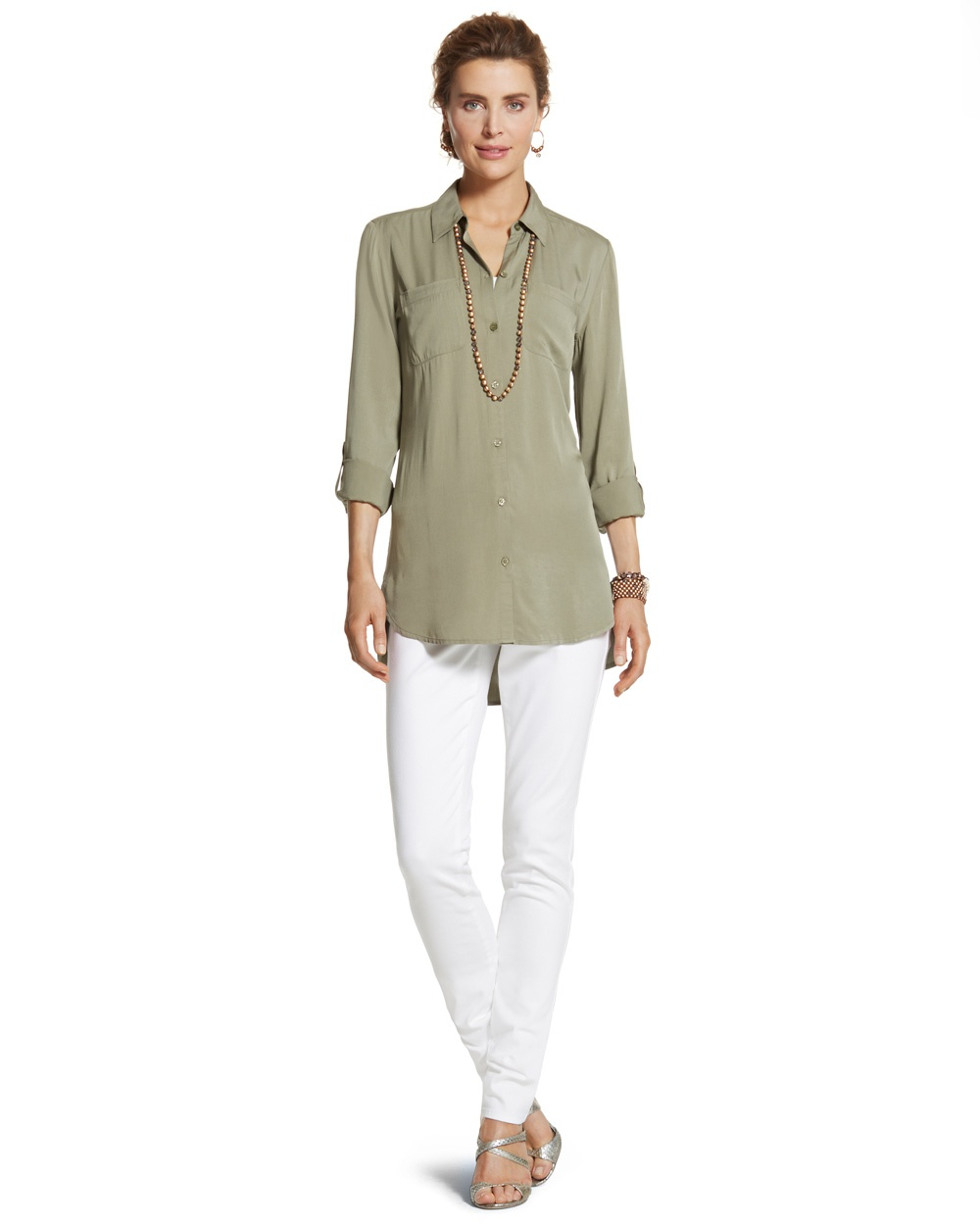 Chico'sback pleat babette ii shirt