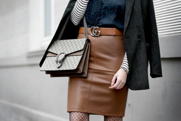 8e220b7745e skirt, leather belt, tumblr, brown, brown skirt, mini skirt, leather ...