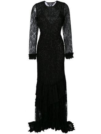 gown back open open back women lace black silk dress
