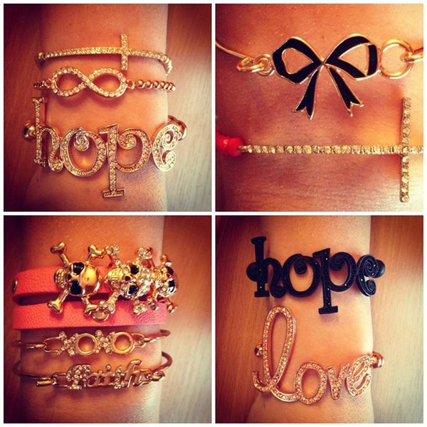 jewels love bracelet bow hope bracelet skull wrap bracelet infinity