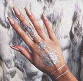 nail accessories,jewels,silver,tattoo,hand jewelry,accessories,cute,nail polish,temporary tattoo,make-up,metallic,metallic tattoo,tumblr,tumblr girl,nails,fake tattoos,beautiful,gorgeous,grey,lovely,modern,acrylic nails,acrylics,nude,nude nails