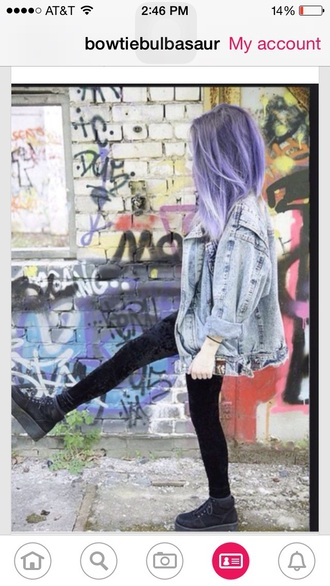 jacket pastel goth denim acid wash denim jacket hair accessory