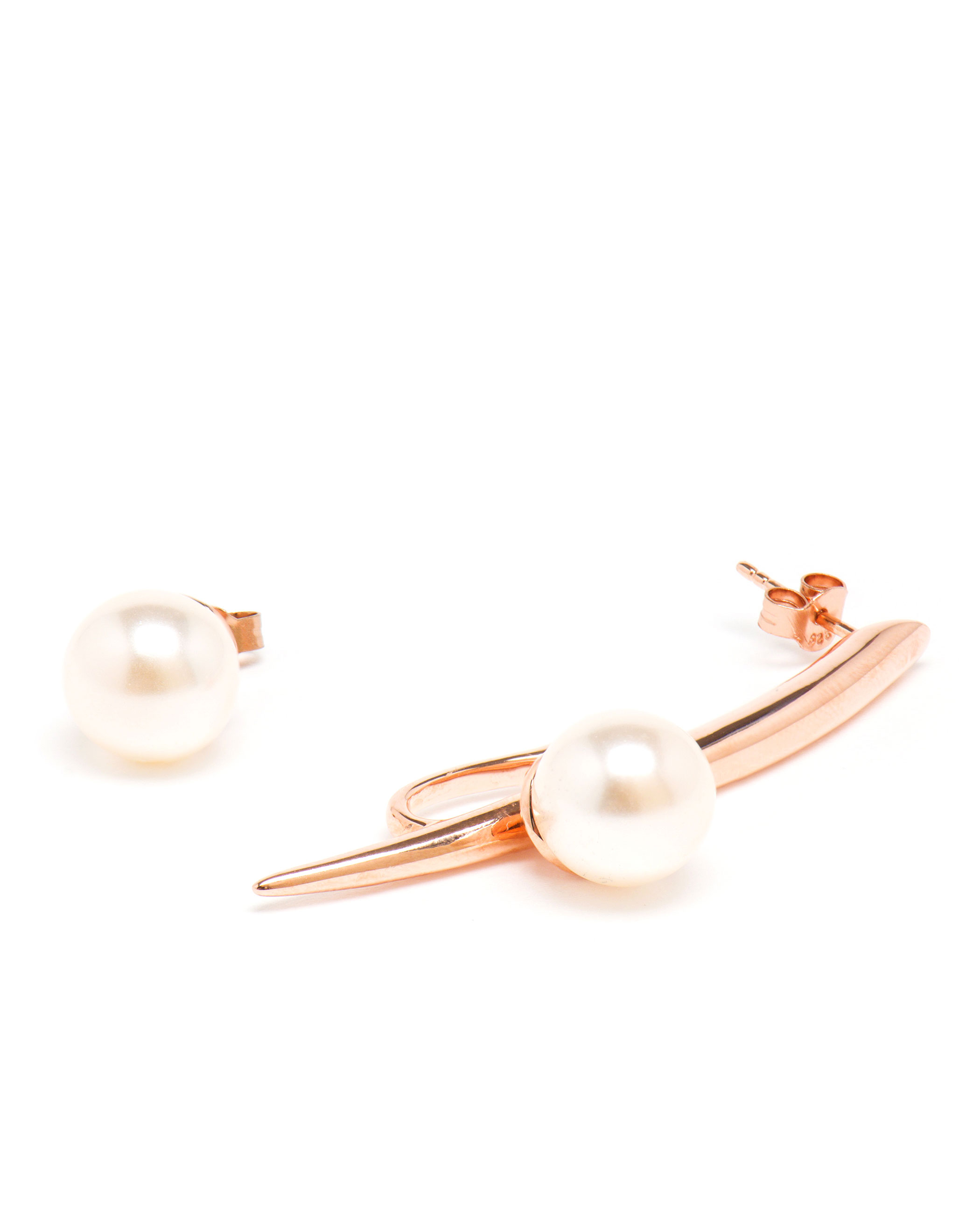Ear Bar with Swarovski Pearls