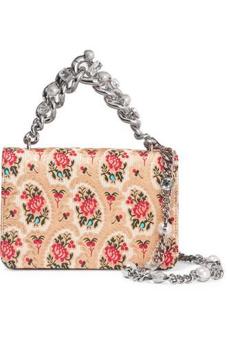 jacquard bag shoulder bag floral beige