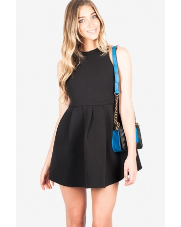 HIGH CUT DRESS - BLACK
