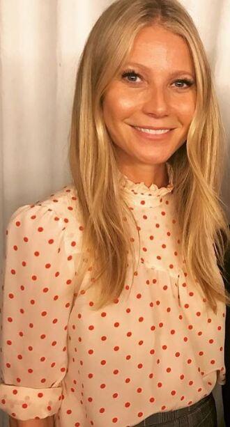 blouse gwyneth paltrow polka dots top