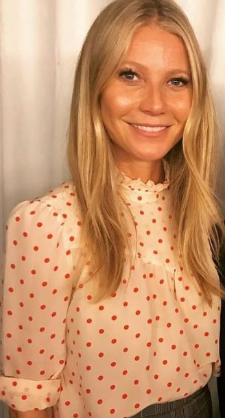 blouse gwyneth paltrow polka dots top
