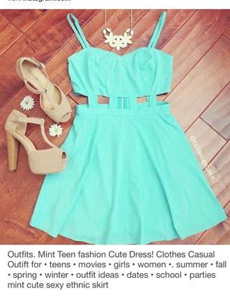 dress teal dress blue dress