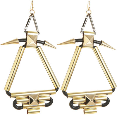 Fallon labyrinth chandelier earrings