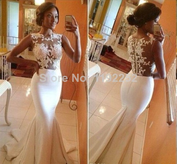 Aliexpress.com : Buy Custom Made  Evening Dresses Charming  Sweetheart  Floor Length Court Train Mermaid Bridal Gowns Formal Dresses With Lace Satin from Reliable gowns and dresses suppliers on readdress