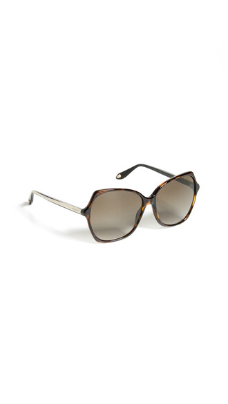 oversized sunglasses dark brown