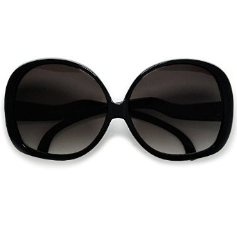 Amazon.com: Extra Large Oversized Women's Round Frame Designer Inspired Indie Fashion Sunglasses (Black): Clothing