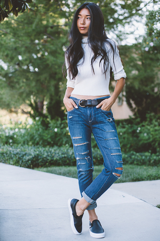 honey and silk top jeans shoes