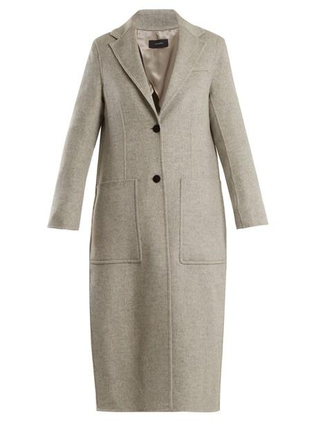 Joseph coat silk wool light grey