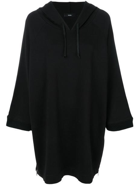 Diesel dress hoodie dress women cotton black