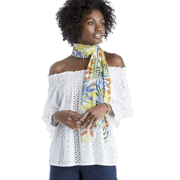 Sole Society Elongated Multi Palm Scarf  - Multi-One Size