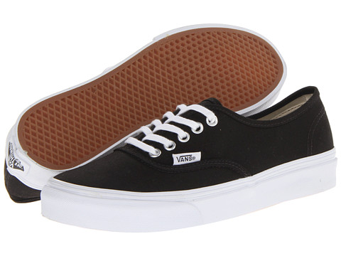 Vans Authentic™ Slim Black/True White - Zappos.com Free Shipping BOTH Ways