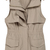 Khaki Lapel Sleeveless Pockets Outerwear - Sheinside.com