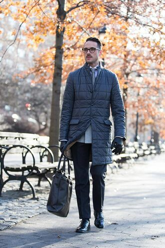 he spoke style blogger gloves menswear winter outfits mens coat jacket shirt pants bag jewels shoes