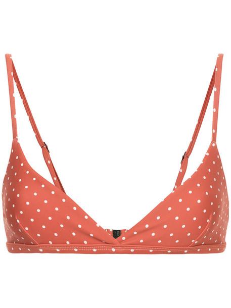 bikini bikini top women spandex yellow orange swimwear
