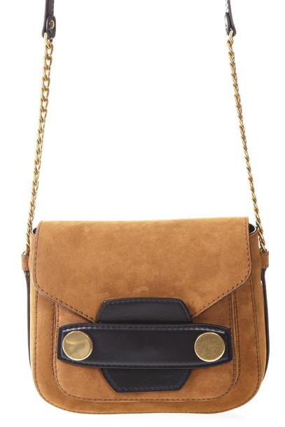 Stella McCartney bag shoulder bag suede tan